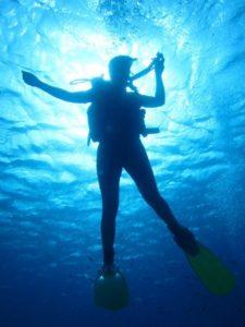 Certified Diver Descending