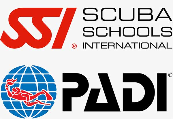 SSI PADI Logos