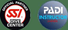 SSI and PADI round logos